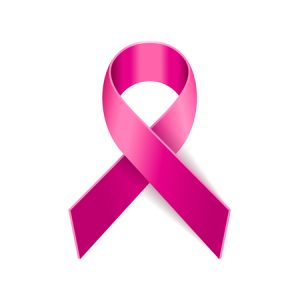 45956468 - breast cancer pink ribbon on white background. vector illustration